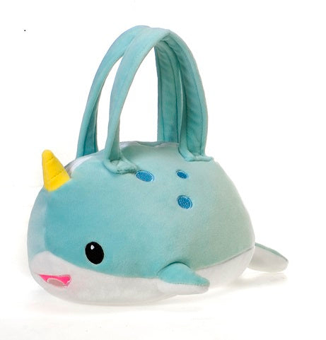 "Lil' Huggy - 8"" Narwhal Purse"