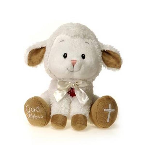 "8"" Lamb with ""God Bless"""