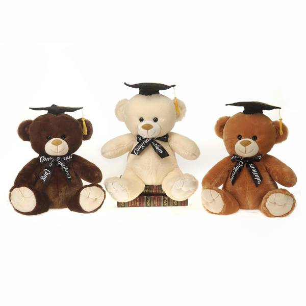"12.5"" Graduation Bears with Ribbon"