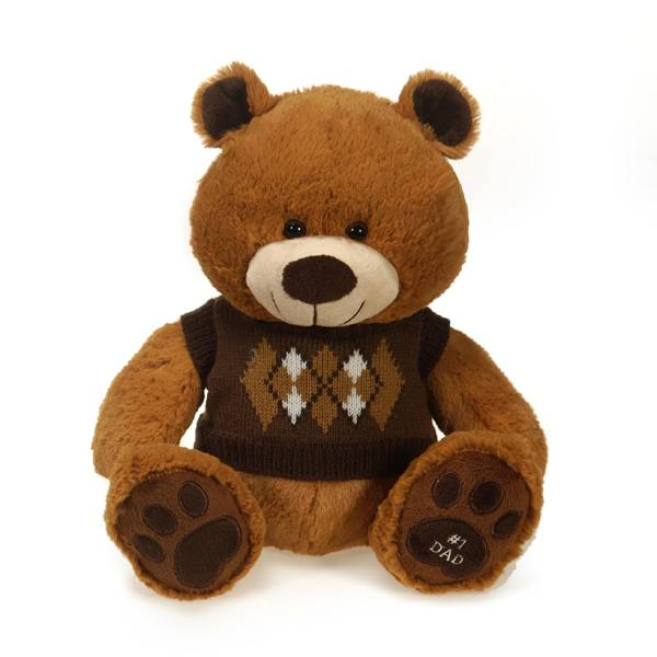 "10"" Father's Day Bear with Argyle Sweater"