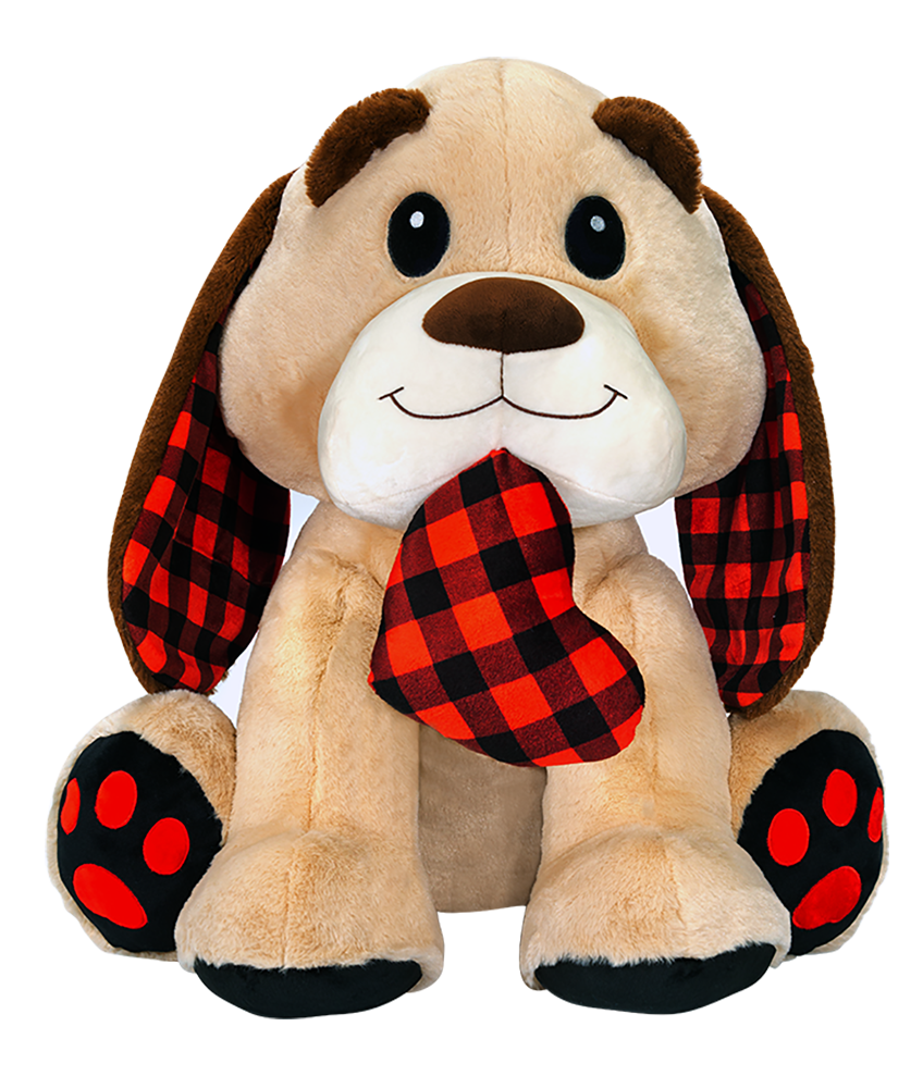 "26"" Dog with Flannel Heart"