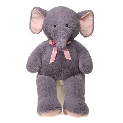"39"" Cuddle Elephant with Pink Ribbon"