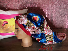 Load image into Gallery viewer, Extra long satin bonnets made for Locs,, Hair extentions and more.