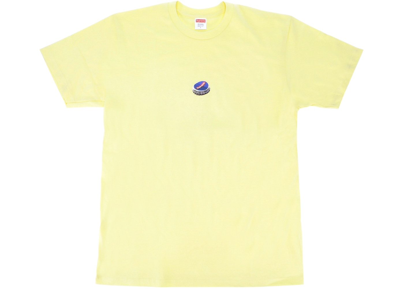 Supreme Bottle Cap Tee Lemon Yellow