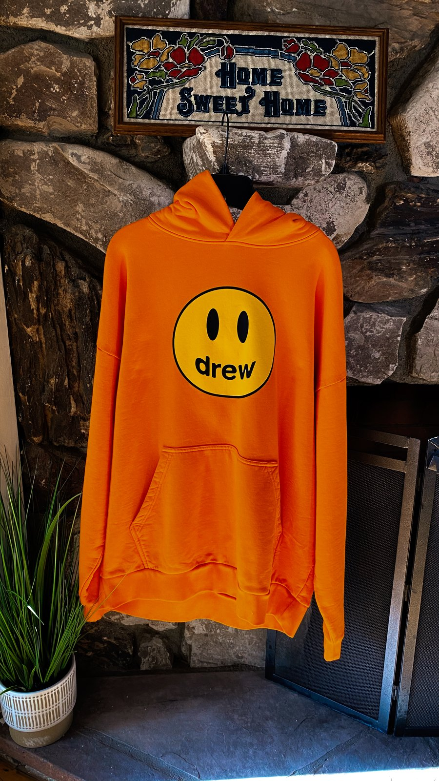 Drew House Orange Mascot Hoodie
