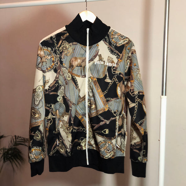 Palm Angels Abstract Print Front Logo Bomber Jacket