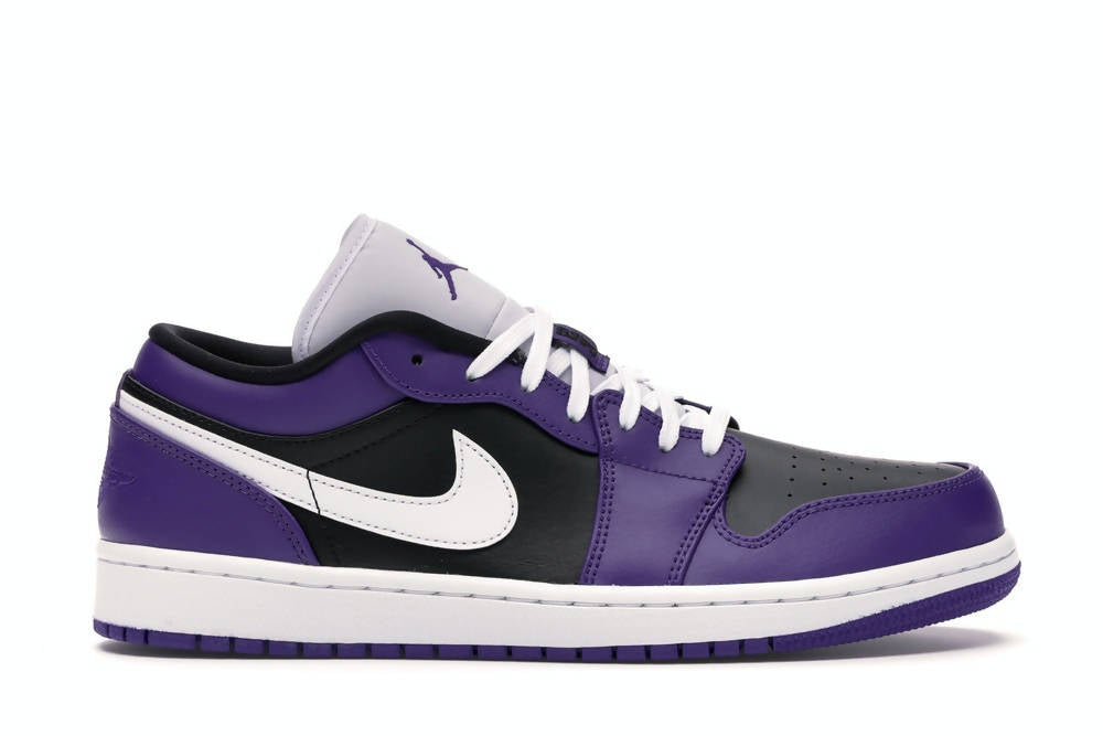 Air Jordan 1 Low Court Purple Black