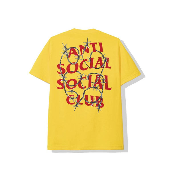 Anti Social Social Club Barbed Wire Tee Yellow