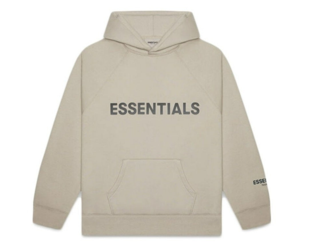Essentials Black on Olive Hoodie