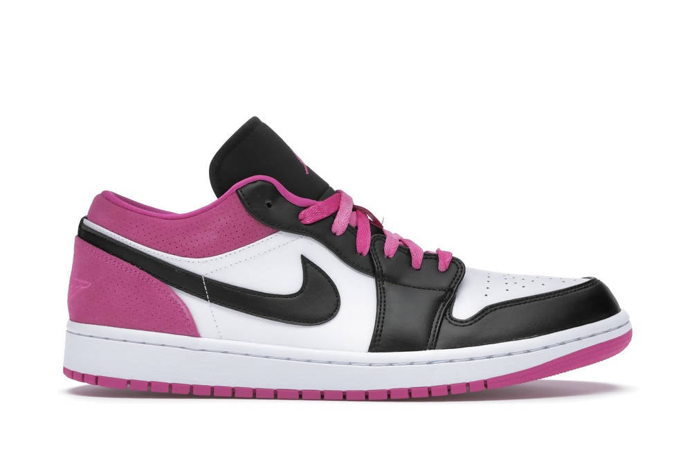 Air Jordan 1 Low Black Active Fuchsia
