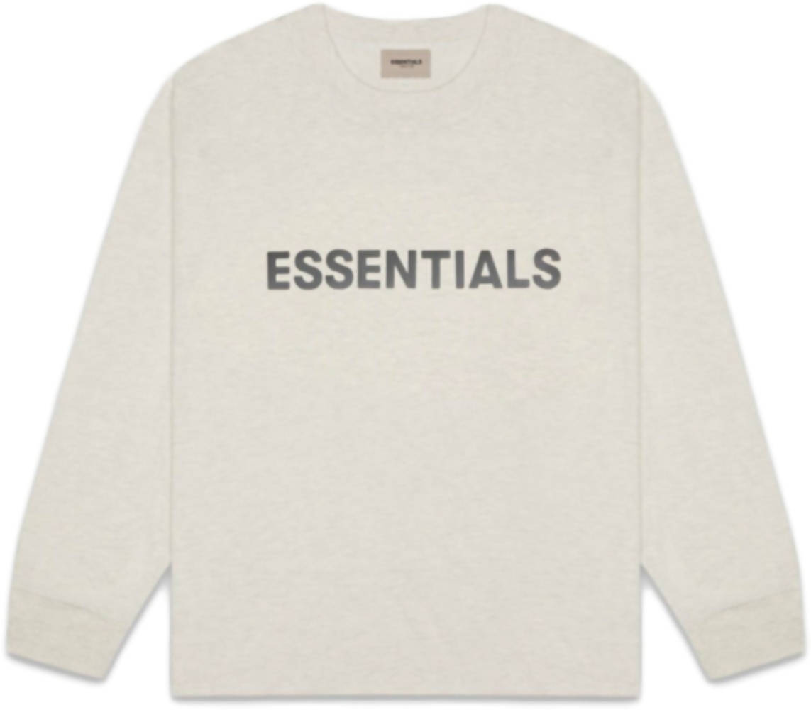 ESSENTIALS 3D Silicon Applique Boxy T-Shirt Oatmeal Heather