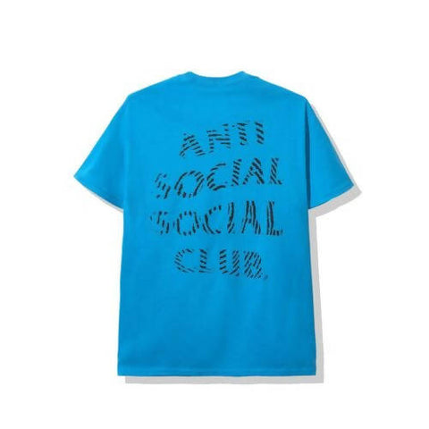 Anti Social Social Club Black Logo Misprint Blue Tee
