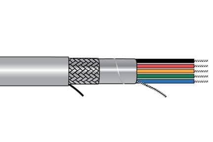 Alpha Wire 5543 SL005 Multi-Conductor Cables 14AWG 3C SHIELDED 100ft SPOOL SLATE - WAVE-AudioVideoElectric