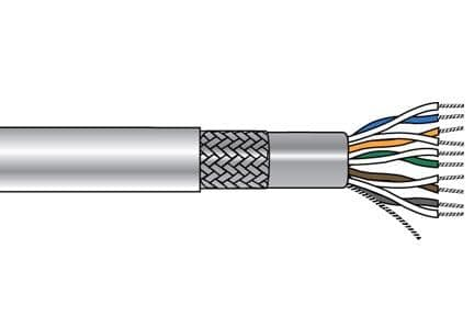 Alpha Wire 6228C SL002 Multi-Paired Cables 24AWG 8PR FOIL-BRD 500 FT SPOOL SLATE - WAVE-AudioVideoElectric