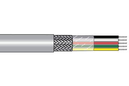 Alpha Wire M1122 SL005 Multi-Conductor Cables 20 AWG PVC 100 FT SPOOL SLATE - WAVE-AudioVideoElectric
