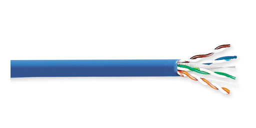 GENERAL CABLE 8131800 - Category 6 Plenum Copper Cable, GenSPEED EfficienC Max, 22 AWG Solid Bare Annealed Copper, Rated to 90-deg C, Blue Jacket - WAVE-AudioVideoElectric