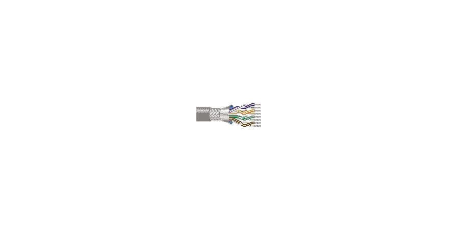 Belden Equal # 8342 601000 - Multi-Conductor - Low Capacitance Computer Cable for EIA RS-232 Applications 12-Pair, 124 AWG PVCR Shield PVC Chrome - Price Per 100 Feet - WAVE-AudioVideoElectric
