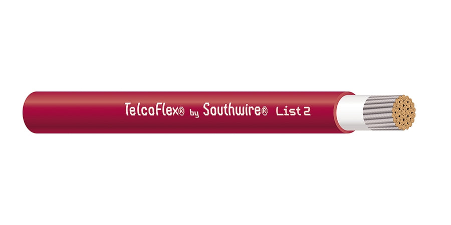 SOUTHWIRE COMPANY # 56961001 - TelcoFlex II Central Office Power Cable, 750 KCMIL, Single Conductor, Class 1 Flexible Strand Without Braid, LSZH, 600 Volts, Red - WAVE-AudioVideoElectric
