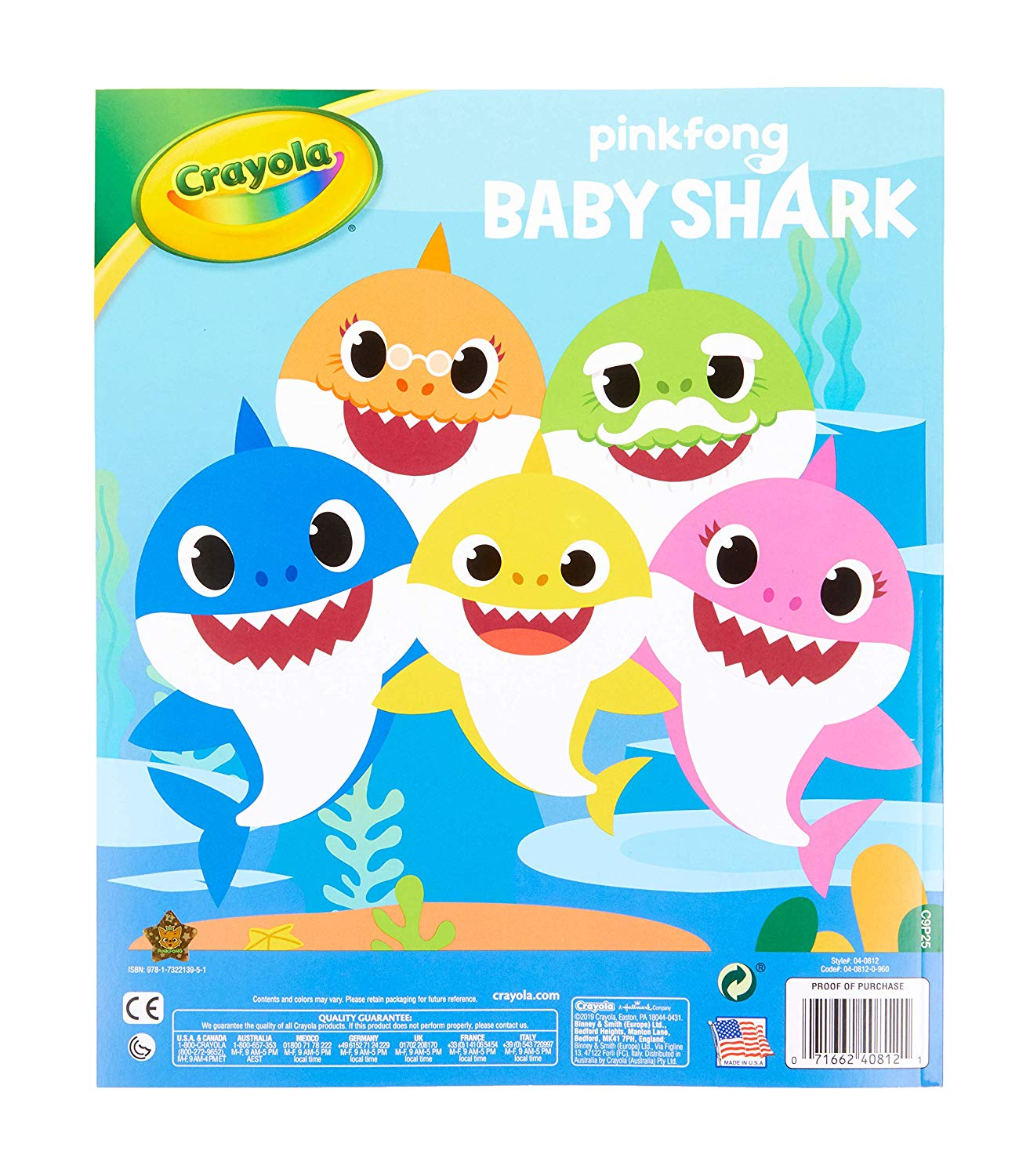 Crayola Baby Shark Coloring Pages - Greatspot1