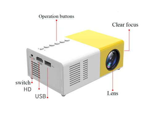Portable LCD LED Projector Office Home Cinema 1080P