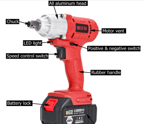 Cordless High Torque Electric Wrench Driver2