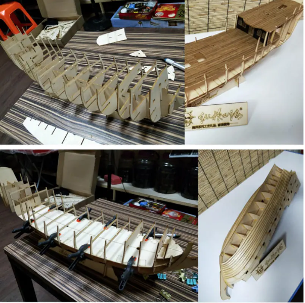 Ship Model DIY Kits Wooden Sailing Boats Decoration Toy