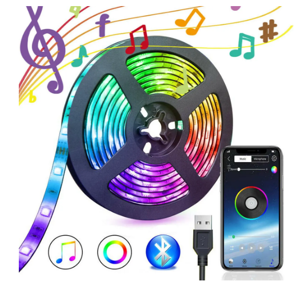 Power Bluetooth LED Light Strip Decoration