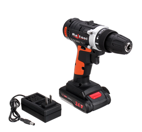 Raitool 24V Cordless Power Drill with Rechargeable Lithium Battery 3