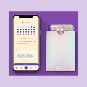 Aavia: Birth control pill reminder smart case and app