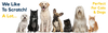 graphic of different dog and cat sizes and breeds