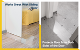 cat scratch protector in use with different door types and spaces