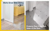 images showing how scratch protectors work on sliding doors and inside or outside doors