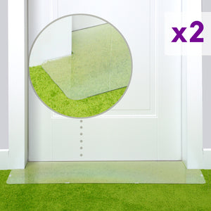 Cat scratch protector on green carpet size