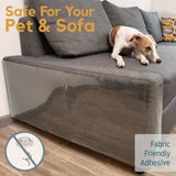 dog relaxing on sofa protector with cat scratch guard