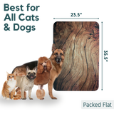 dogs and cats showing door scratch protector sizing