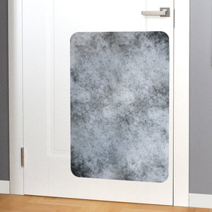Image of concrete door scratch protector on door