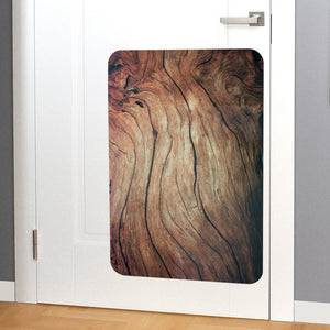 Elegant rustic wood door scratch protector hanging