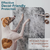 dog on decor-friendly scratch protector