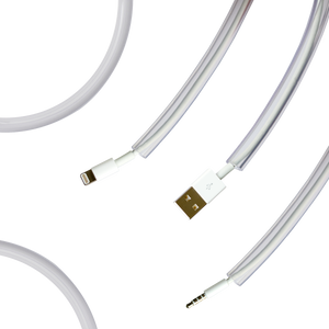 transparent pet wire protectors with cables tucked in