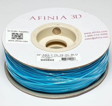 Specialty 3D Filament 1,75 , Glow Blue 1kg, ABS Value Line