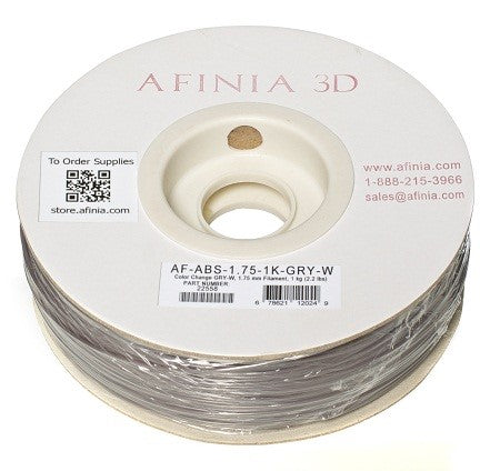 Specialty 3D Filament 1,75 , Color Change Grey to White , 1kg, ABS Value Line