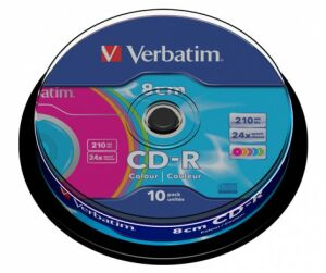 80mm CD-R Verbatim Color 10er Cake