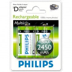 Battery Philips Akkus D 2450mAh 2er