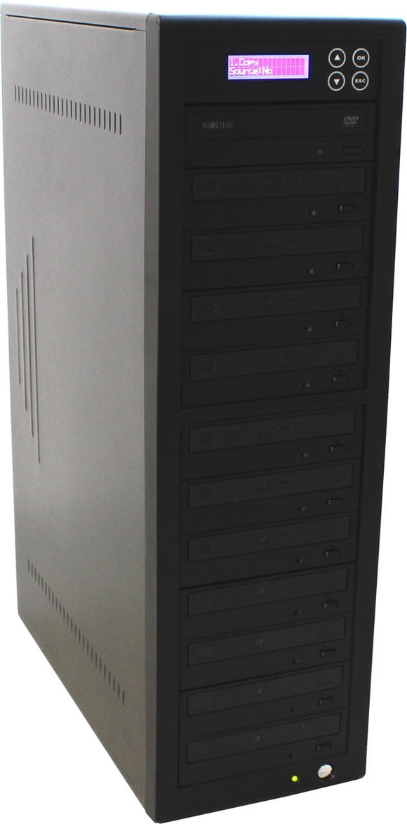 CD/DVD PREMIUM  Copy Tower with 11 CD/DVD-writers & 1TB HDD