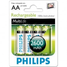 Battery Philips Akkus AA 2600mAh 4er