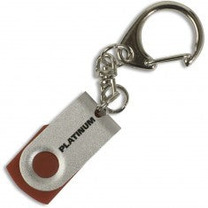 USB Stick 4GB Platinum Mini Twister red