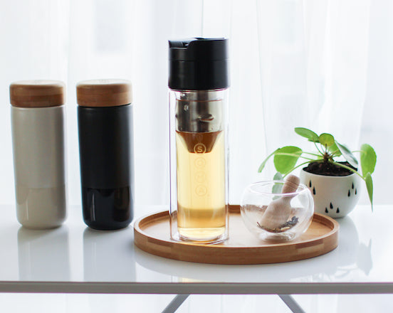 Hot & Cold Brew Bottle with tea