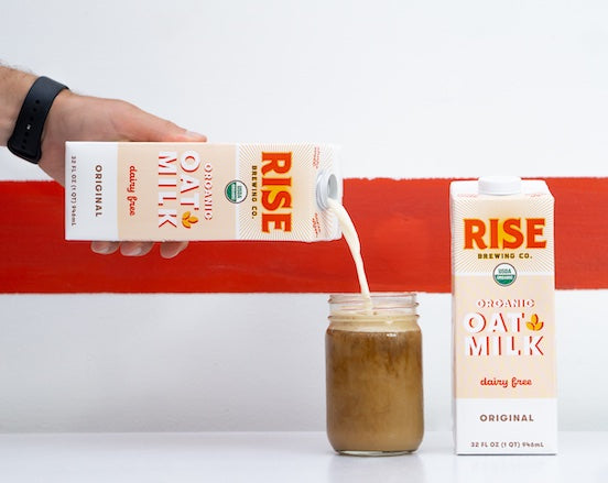 Rise Oat Milk Pouring
