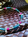 Multicolor dragonfly beaded bracelet
