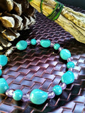 Teal and purple bracelet
